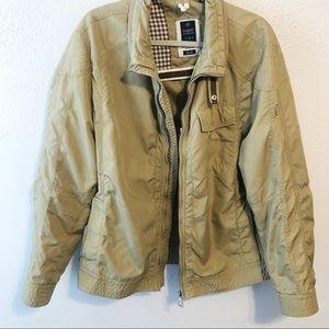 Bugatti men's tan nylon jacket coat size med